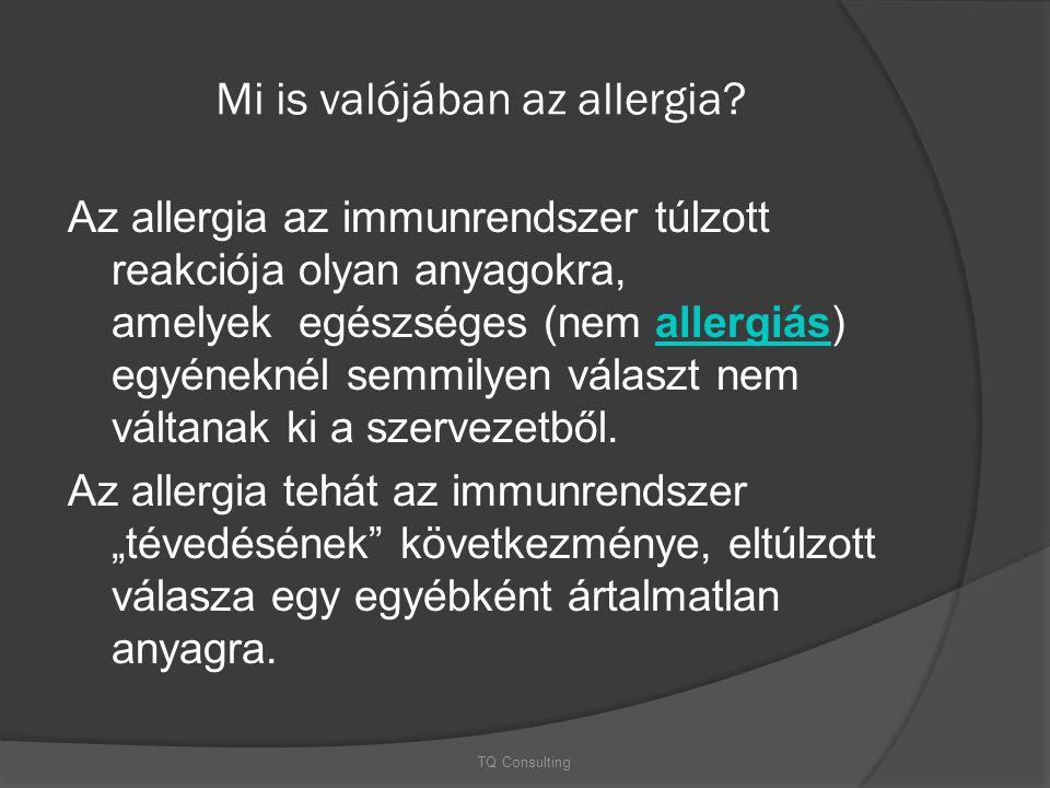 Mi is valójában az allergia? Az allergia az immunrendszer túlzott reakciója olyan anyagokra, amelyek egészséges (nem allergiás) egyéneknél semmilyen v