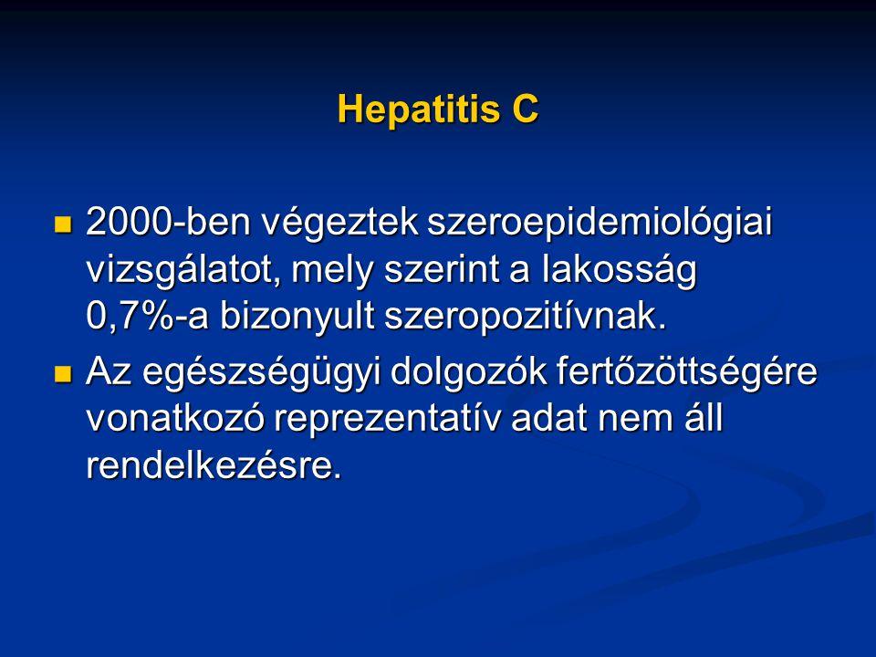 Hepatitis C 2000-ben végeztek szeroepidemiológiai vizsgálatot, mely szerint a lakosság 0,7%-a bizonyult szeropozitívnak. 2000-ben végeztek szeroepidem