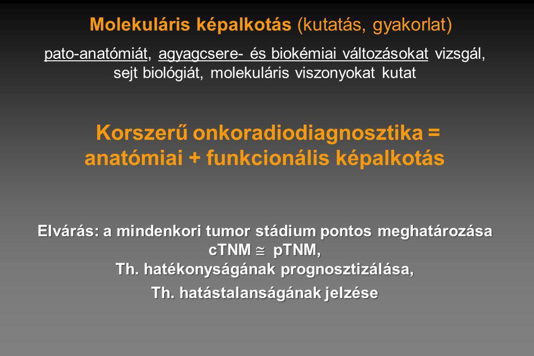 Elvárás: a mindenkori tumor stádium pontos meghatározása cTNM  pTNM, Th.
