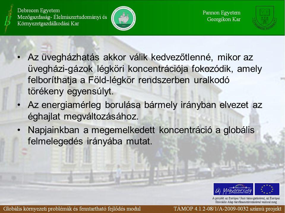 Az üvegházhatás akkor válik kedvezőtlenné, mikor az üvegházi-gázok légköri koncentrációja fokozódik, amely felboríthatja a Föld-légkör rendszerben ura