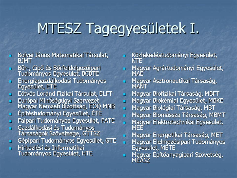 MTESZ Tagegyesületek I.