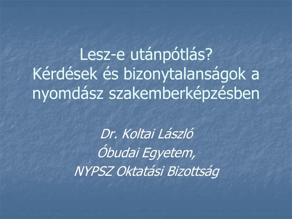Lesz-e utánpótlás. Kérdések és bizonytalanságok a nyomdász szakemberképzésben Dr.