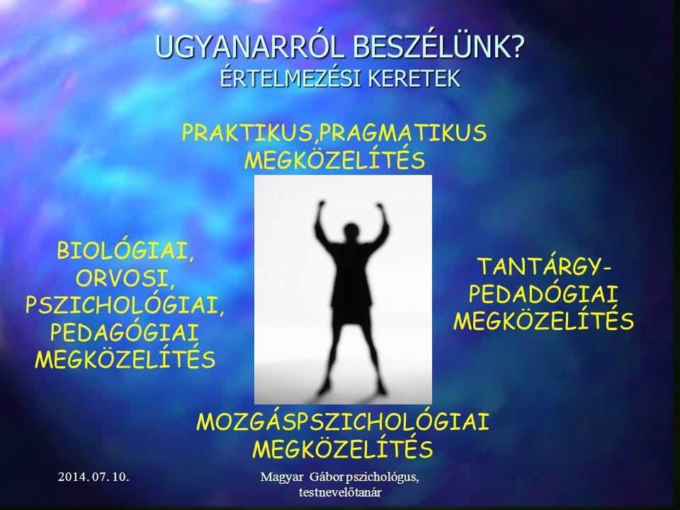 A MOZGÁSKOTTA A MOZGÁSKOTTA MÓDSZER MÓDSZERés ESZKÖZRENDSZER 2014. 07. 10.Magyar Gábor pszichológus, testnevelőtanár