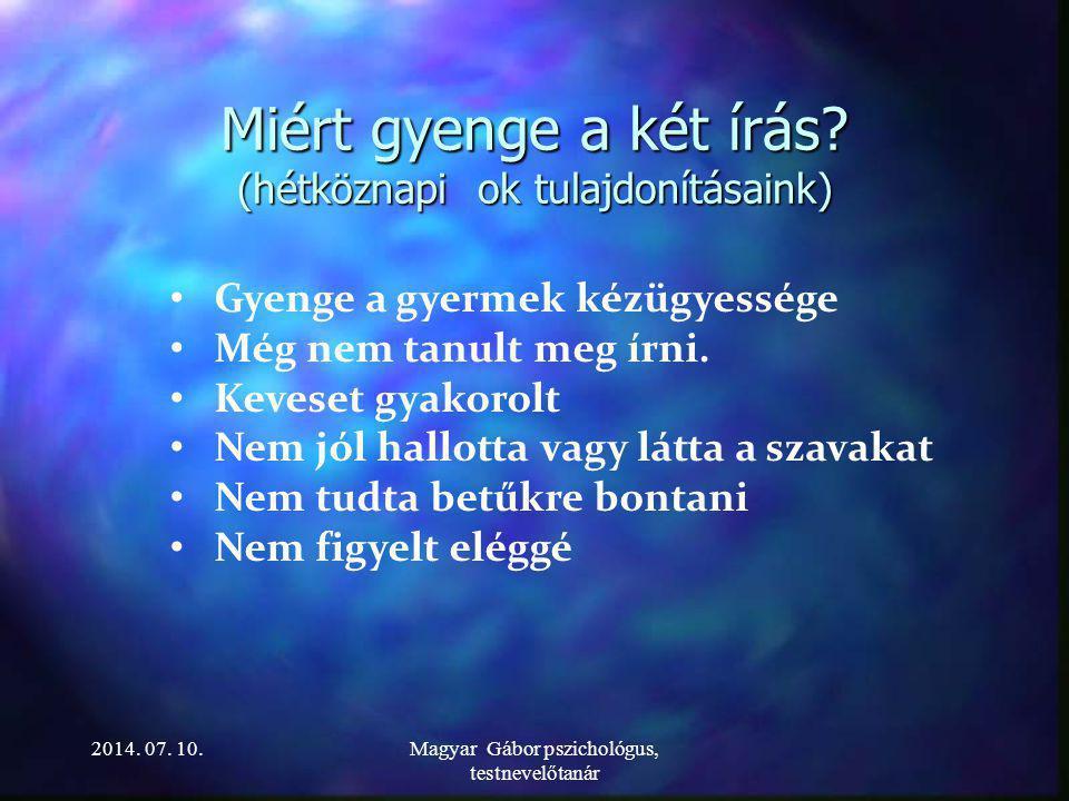 2014. 07. 10.Magyar Gábor pszichológus, testnevelőtanár