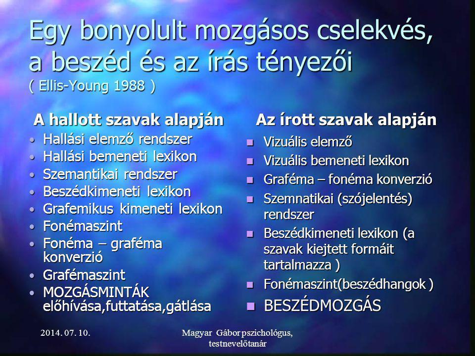 Lábjelek LÁBJELEKLÁBJE 2014. 07. 10.Magyar Gábor pszichológus, testnevelőtanár