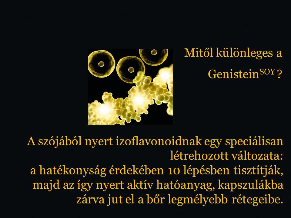 Genistein SOY a gének szintjén fejti ki hatását.
