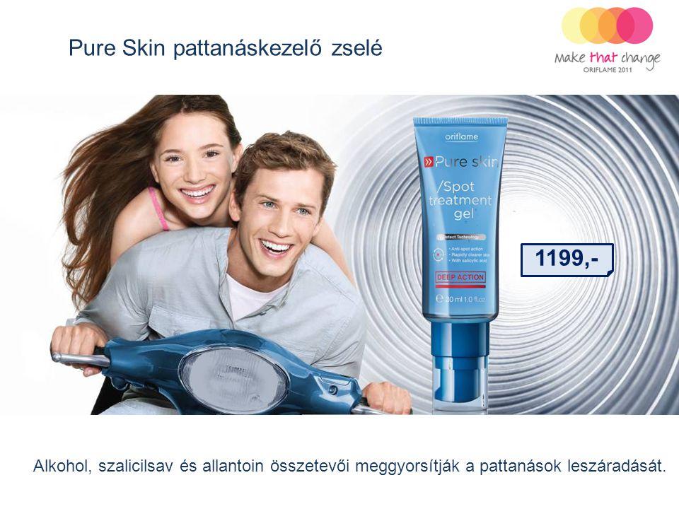 Pure Skin pattanáskezelő zselé Alkohol, szalicilsav és allantoin összetevői meggyorsítják a pattanások leszáradását. 1199,-
