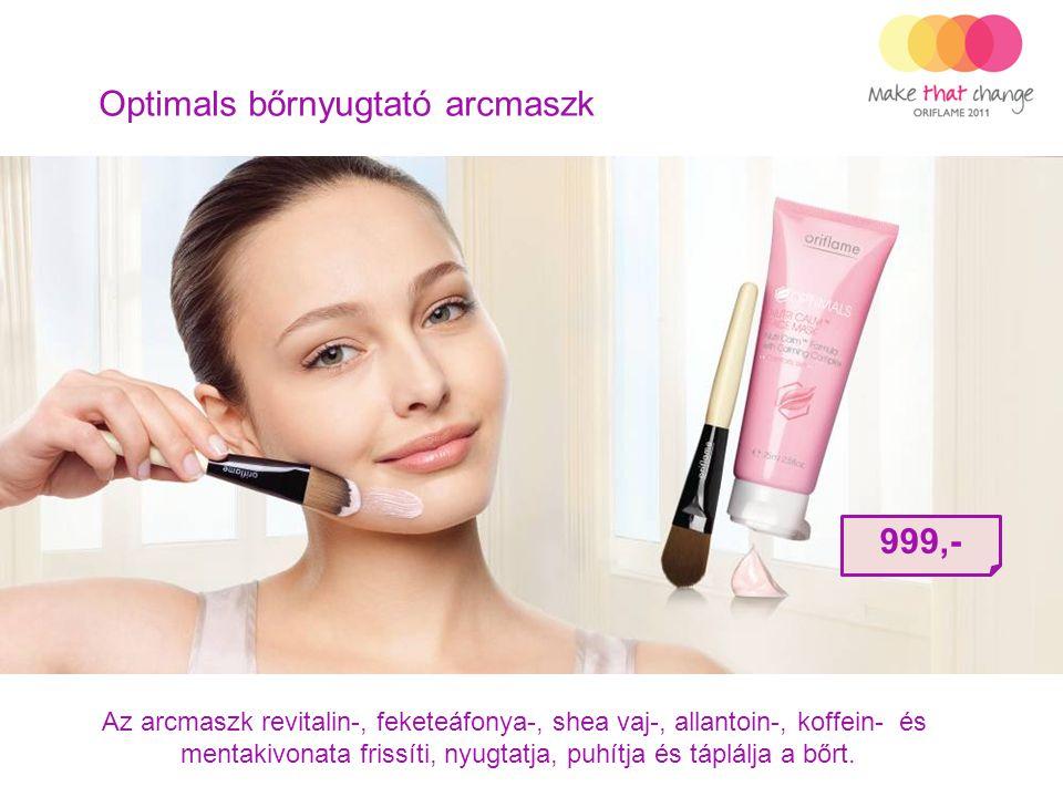 Optimals bőrnyugtató arcmaszk Az arcmaszk revitalin-, feketeáfonya-, shea vaj-, allantoin-, koffein- és mentakivonata frissíti, nyugtatja, puhítja és