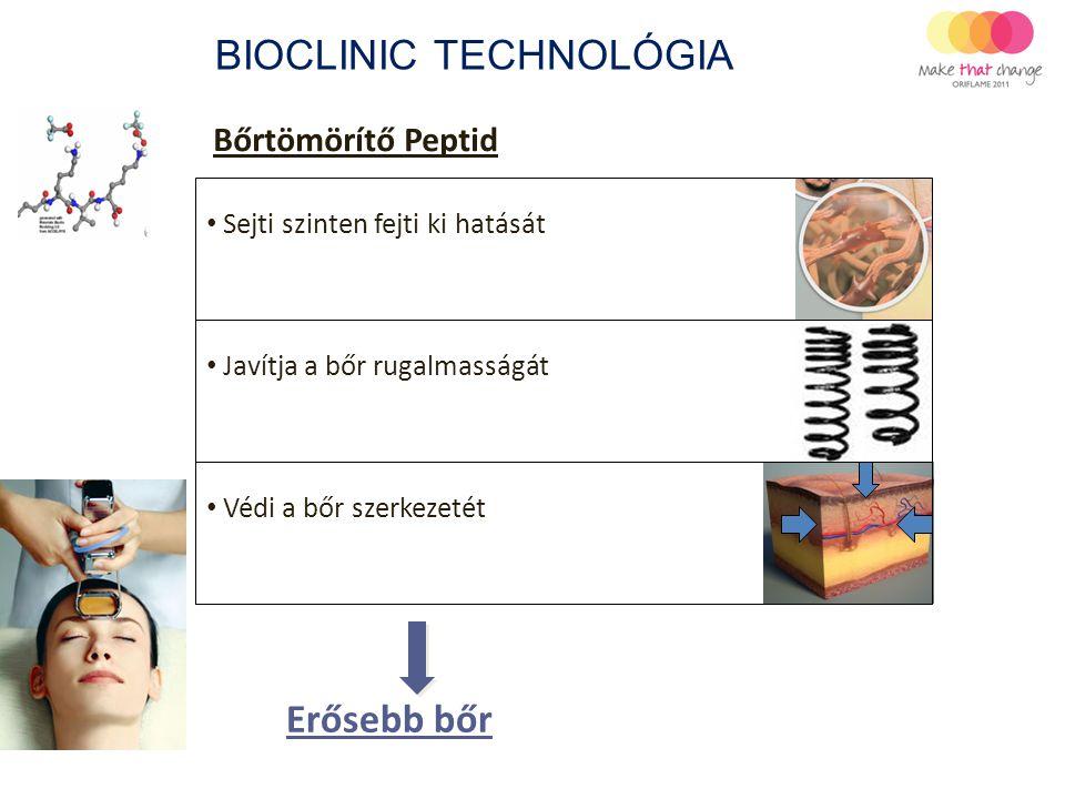 Bőrtömörítő Peptid BIOCLINIC TECHNOLÓGIA Erősebb bőr Sejti szinten fejti ki hatását Javítja a bőr rugalmasságát Védi a bőr szerkezetét