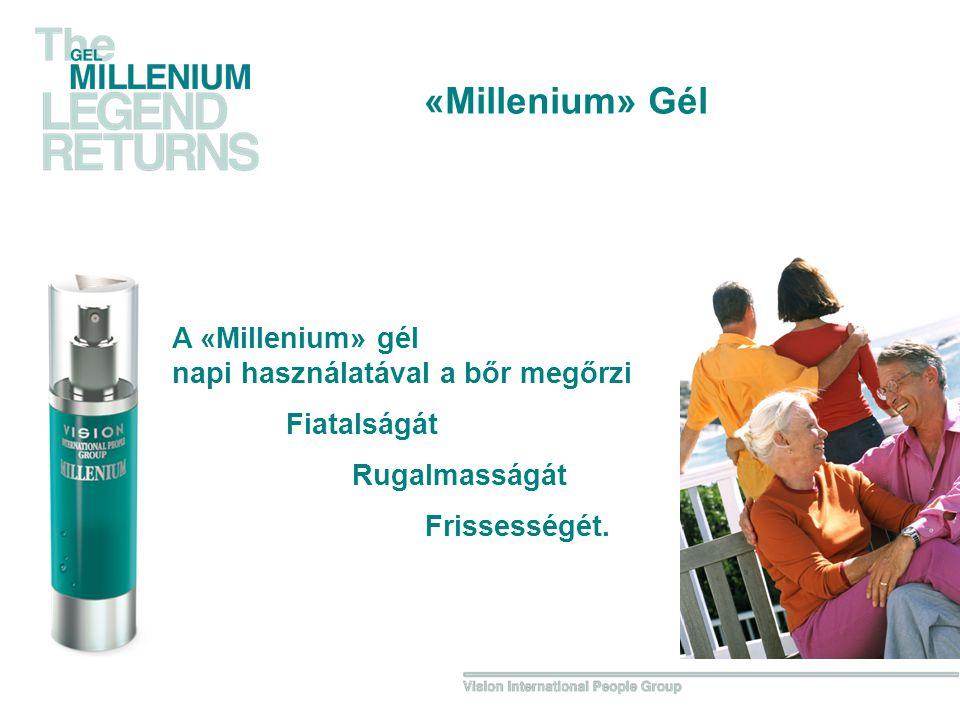 A «Millenium» gél napi használatával a bőr megőrzi Fiatalságát Rugalmasságát Frissességét.