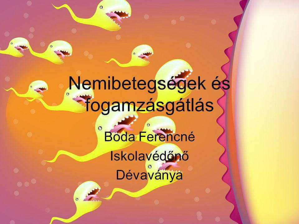Nemibetegségek és fogamzásgátlás Boda Ferencné Iskolavédőnő Dévaványa