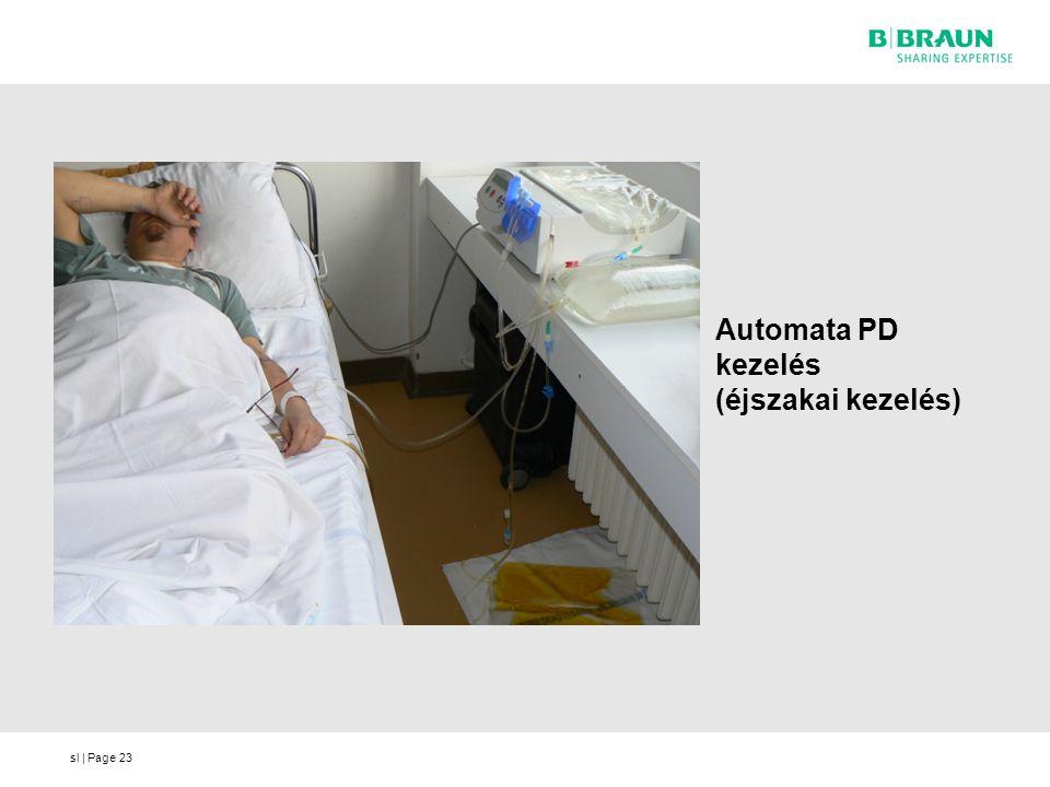 sl | Page Automata PD kezelés (éjszakai kezelés) 23