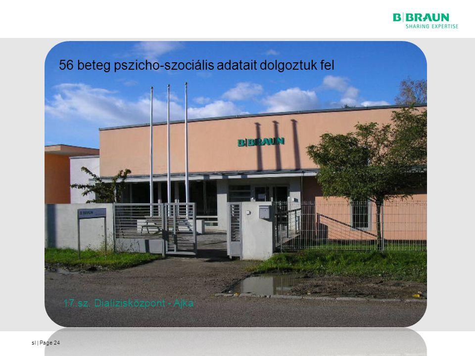 sl | Page24 56 beteg pszicho-szociális adatait dolgoztuk fel 17.sz. Dialízisközpont - Ajka