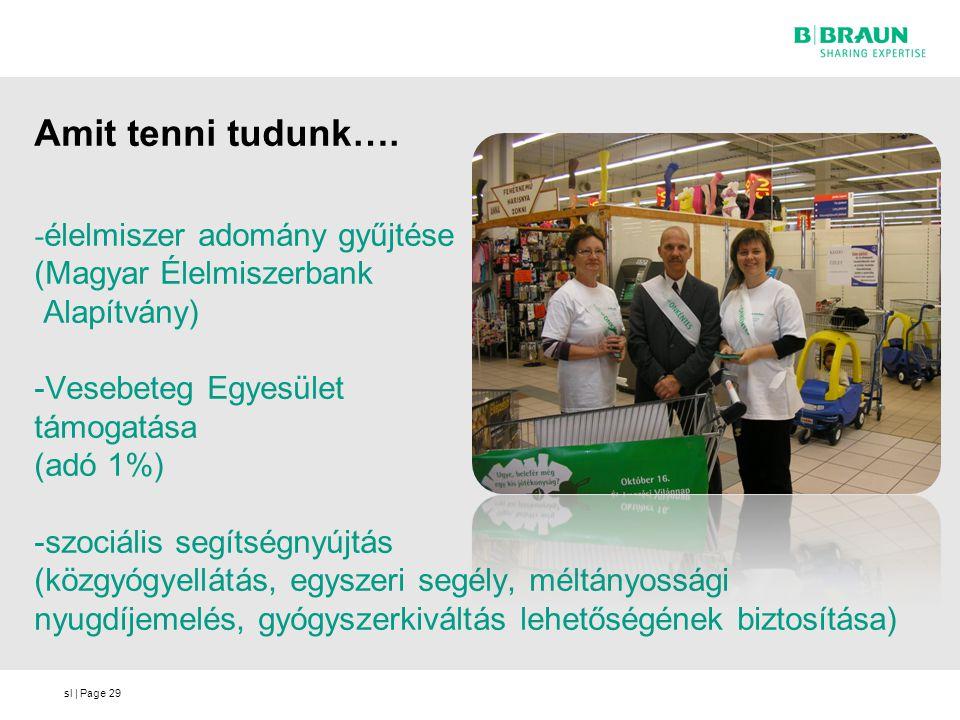 sl | Page Amit tenni tudunk…. 29 - élelmiszer adomány gyűjtése (Magyar Élelmiszerbank Alapítvány) -Vesebeteg Egyesület támogatása (adó 1%) -szociális