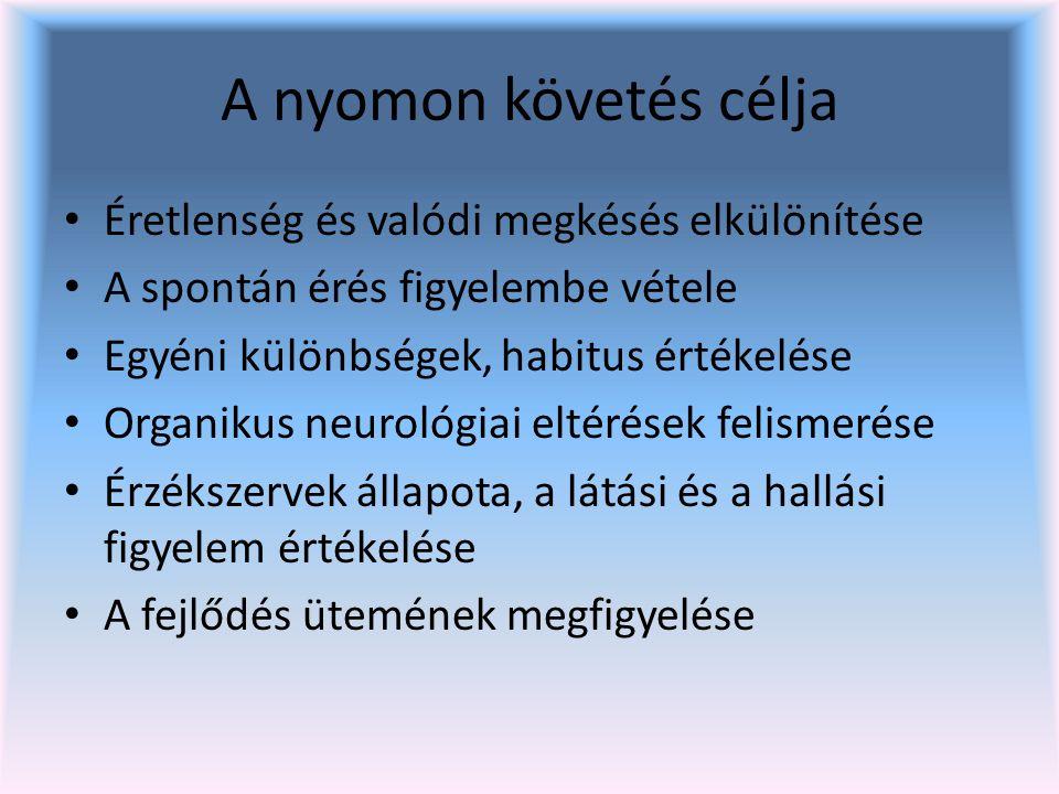 Ínreflexek vizsgálata FV: biceps reflex AV: patella és Achilles reflex Lehet: közepesen élénk, élénk, fokozott, csökkent, nem váltható ki.