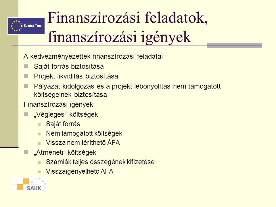Beruházási javaslatok kidolgozása (költségvetés javaslatok) Javaslatok pénzáramlásának becslése Pénzáramlás értékelése Projektváltozat kiválasztása Pé