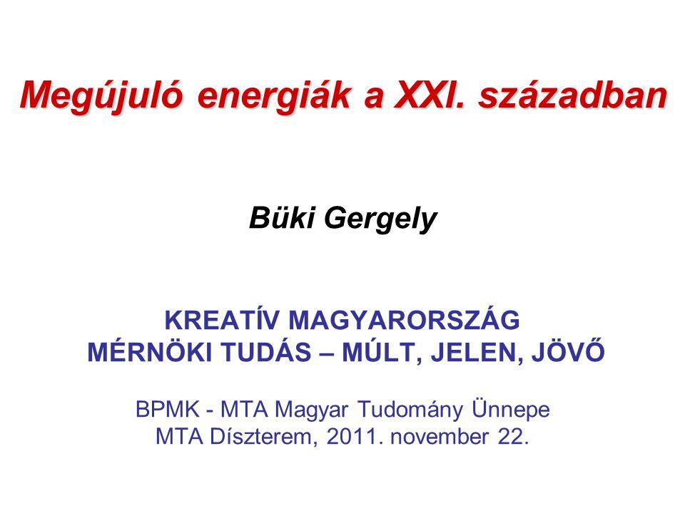 Megújuló energiák a XXI.