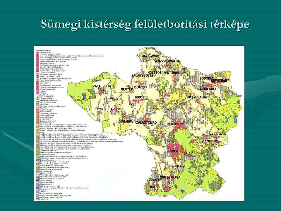 Sümegi kistérség felületborítási térképe