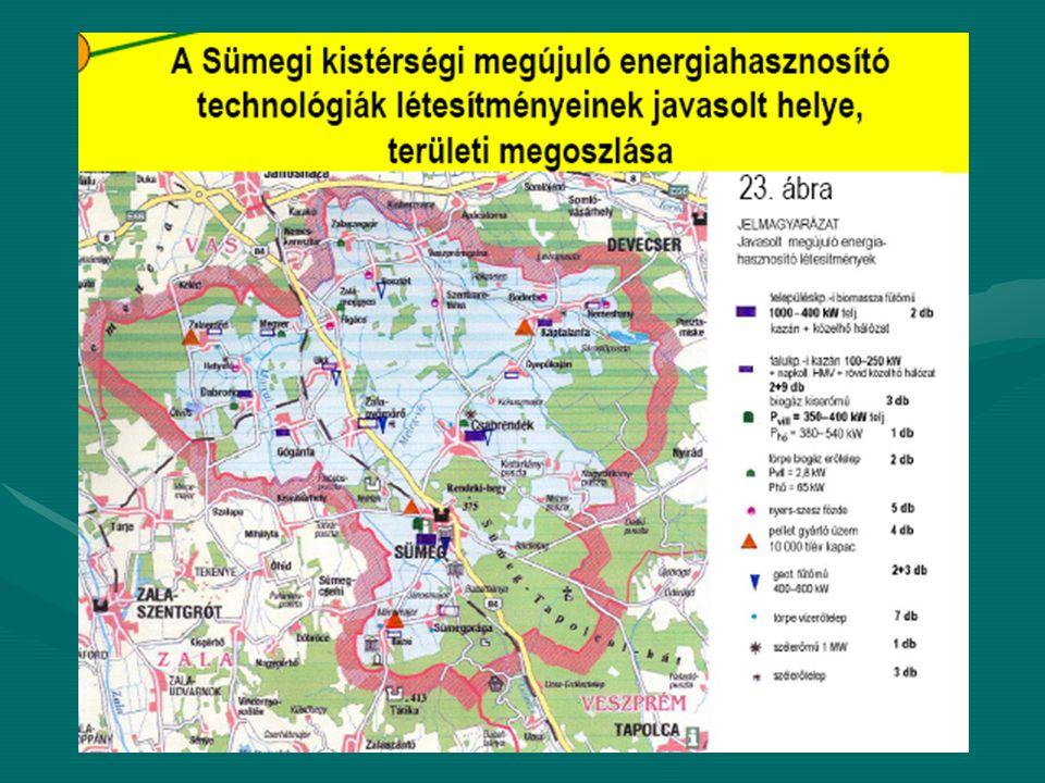 Fejlesztési projektek - Sümegi Kistérség Projekt témája: Biogáz üzem létrehozása, üzemeltetéseProjekt témája: Biogáz üzem létrehozása, üzemeltetése Előkészítettség:Előkészítettség: Elő-megvalósíthatósági tanulmány elkészültElő-megvalósíthatósági tanulmány elkészült Térségi szintű megújuló erőforrásokat feltérképező tanulmány készültTérségi szintű megújuló erőforrásokat feltérképező tanulmány készült Tervek elkészítése folyamatbanTervek elkészítése folyamatban Befektetőkkel való tárgyalások folyamatbanBefektetőkkel való tárgyalások folyamatban Teljesítmény:Teljesítmény: 500 kW elektromos áram500 kW elektromos áram 600 kW hőenergia600 kW hőenergia Hozzávetőleges bekerülési költség:Hozzávetőleges bekerülési költség: 700 Millió HUF700 Millió HUF Tervezett munkahelyek száma:Tervezett munkahelyek száma: 4 munkahely4 munkahely Egyéb megjegyzés:Egyéb megjegyzés: HOCHREITER technológiaHOCHREITER technológia SÜMEG Projekt területi elhelyezkedése: –Sümeg – ipari terület Projekttulajdonos: –Metanisz Mezőgazdasági Szolgáltató Kft.