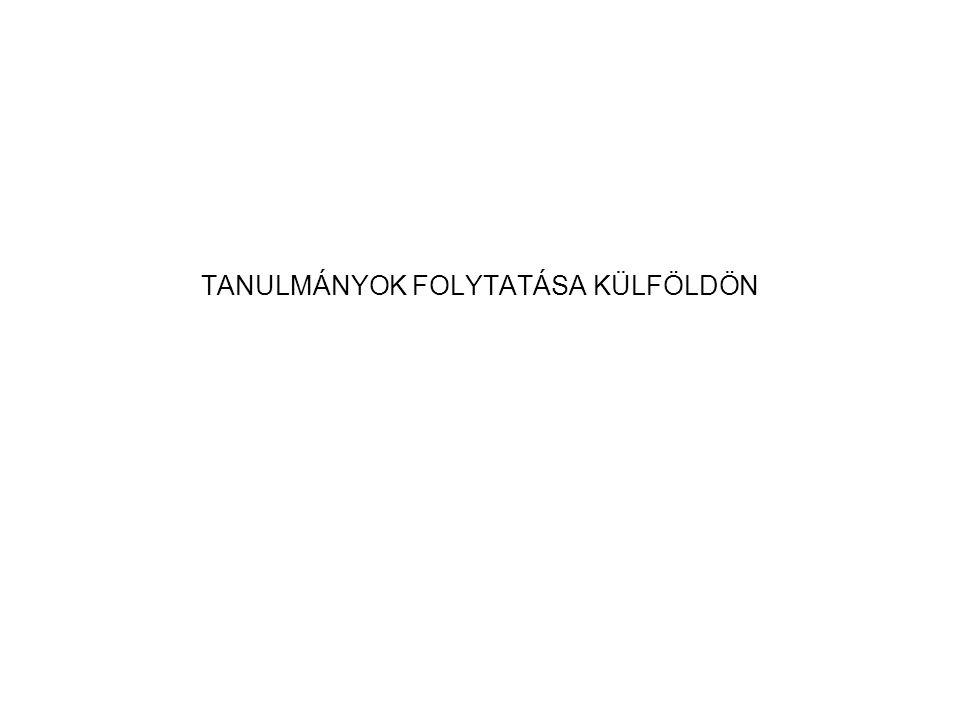 TANULMÁNYOK FOLYTATÁSA KÜLFÖLDÖN