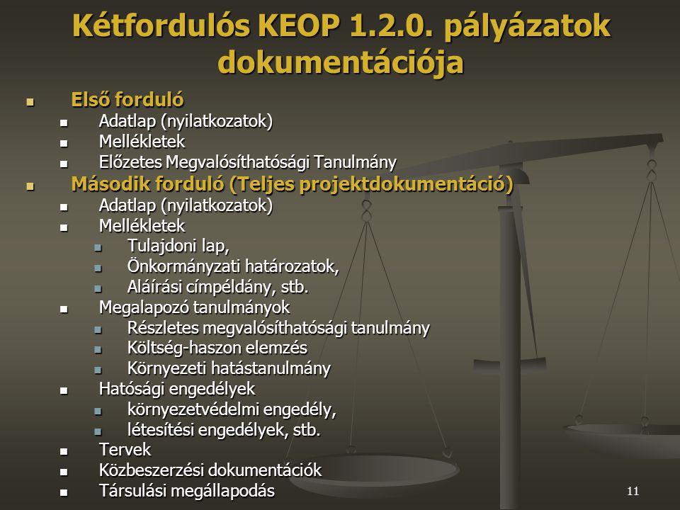 11 Kétfordulós KEOP 1.2.0.
