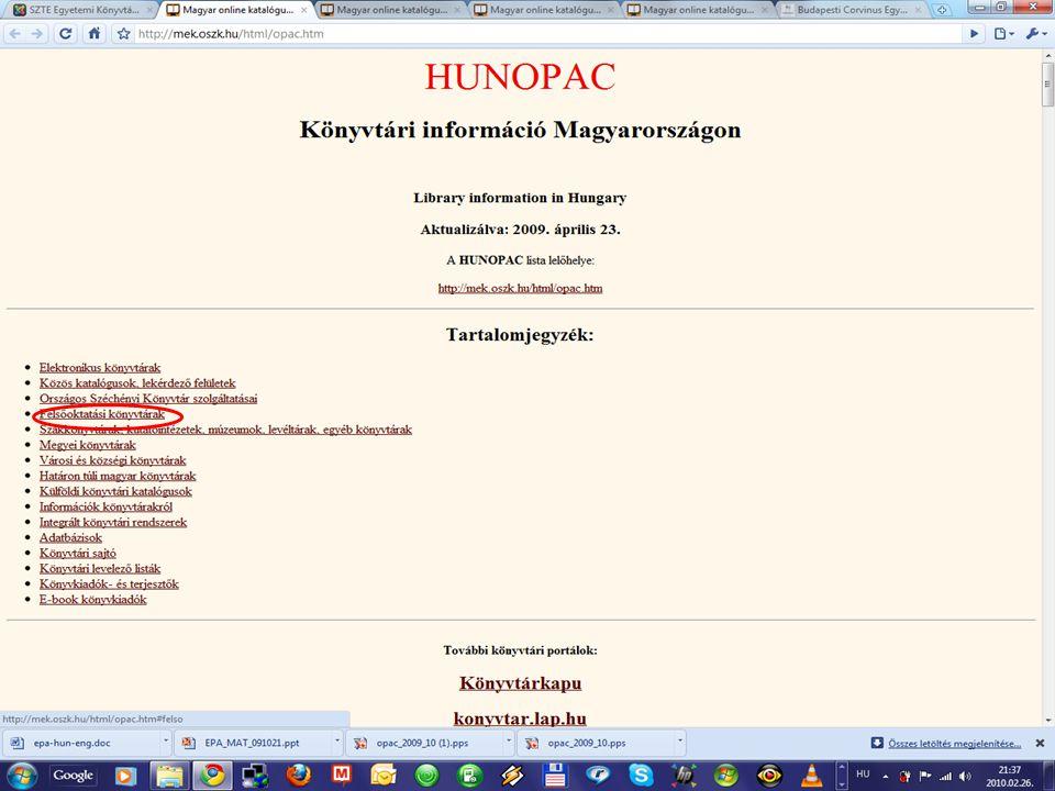 MATARKA - Magyar folyóiratok tartalomjegyzékeinek kereshető adatbázisa - jellemzői az első olyan magyar nyelvű tartalomjegyzék szolgáltatás, melyben a cikkek mellett a szerző és cím is kereshető multidiszciplináris (több tudományterületet fed le) szabad hozzáférésű könyvtárak és folyóirat-szerkesztőségek építik 19 %-ban teljes szövegű gazdasági folyóiratok száma: 66, cikkek száma: 82 910, cikkmásolatok száma: 3 735, ugrópontok teljes szöveg eléréséhez: 3 241