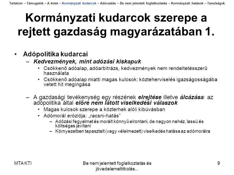 MTA KTIBe nem jelentett foglalkoztatás és jövedelemeltitkolás...
