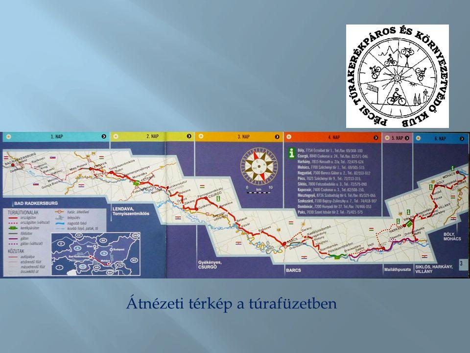 Átnézeti térkép a túrafüzetben