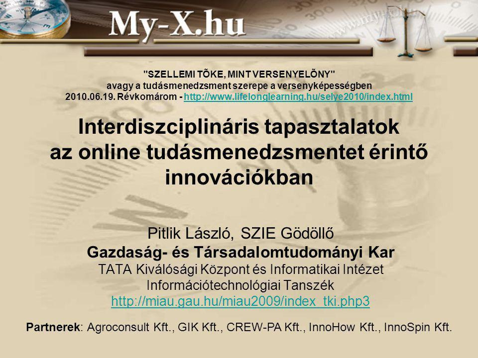 SZELLEMI TÕKE, MINT VERSENYELÕNY avagy a tudásmenedzsment szerepe a versenyképességben 2010.06.19.