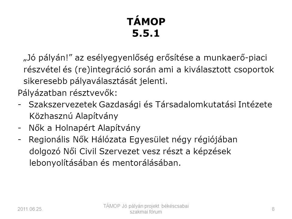 TÁMOP 5.5.1 2011.06.25.