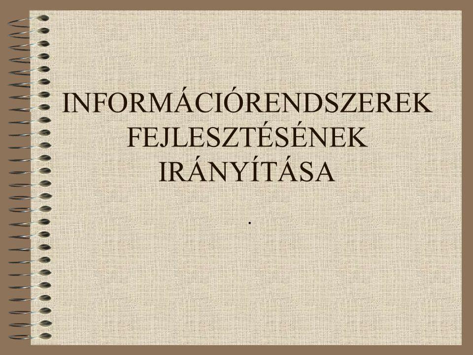 INFORMÁCIÓRENDSZEREK FEJLESZTÉSÉNEK IRÁNYÍTÁSA.