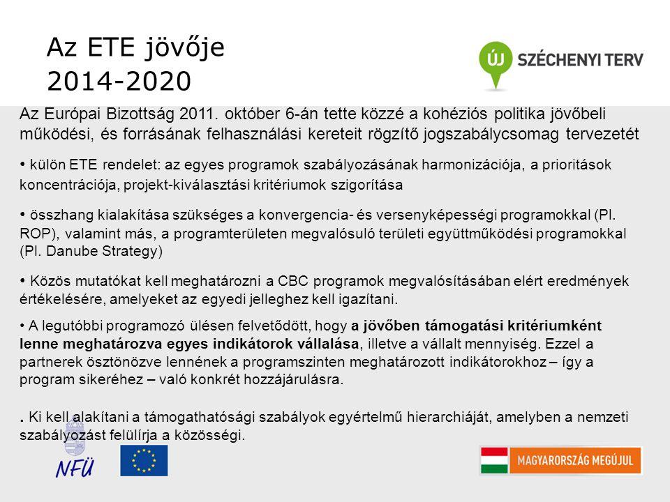 Az ETE jövője 2014-2020 Az Európai Bizottság 2011.