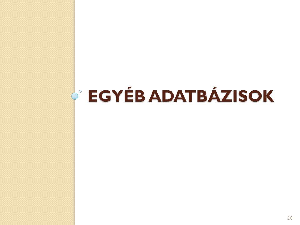EGYÉB ADATBÁZISOK 20