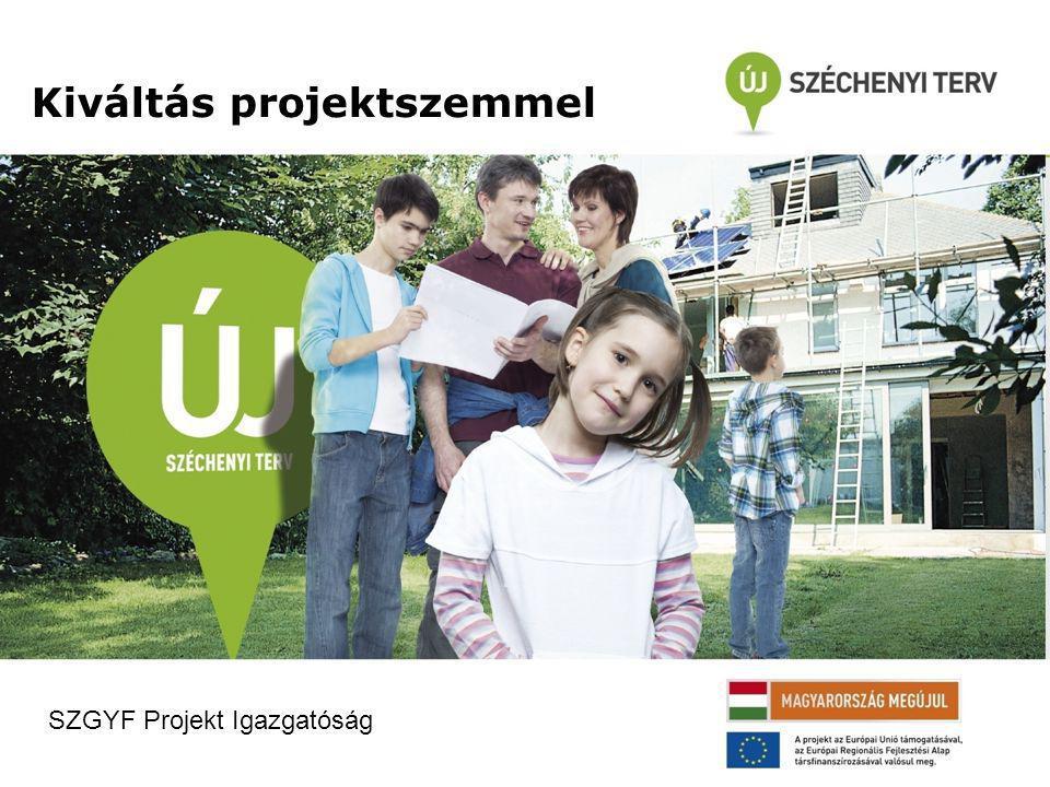 Kiváltás projektszemmel SZGYF Projekt Igazgatóság