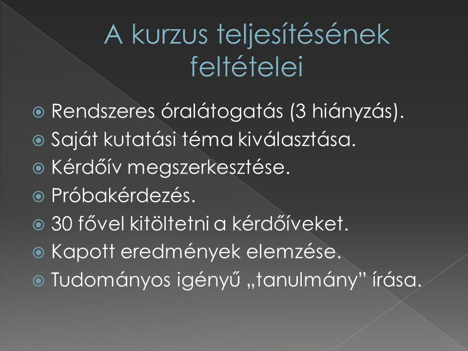  H ÉRA Gábor-L IGETI György (2005): Módszertan.A társadalmi jelenségek kutatása.