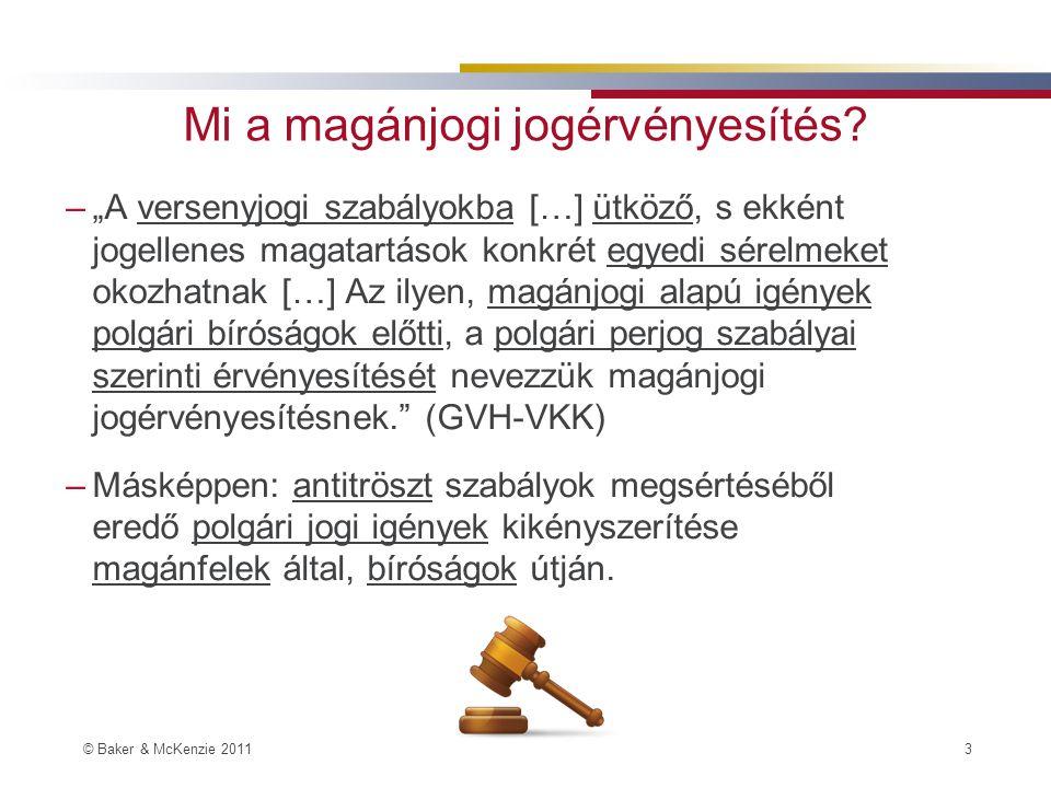 © Baker & McKenzie 2011 3 Mi a magánjogi jogérvényesítés.