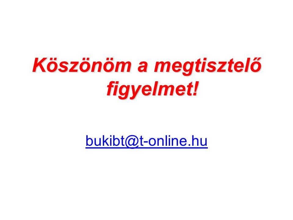 Köszönöm a megtisztelő figyelmet! bukibt@t-online.hu