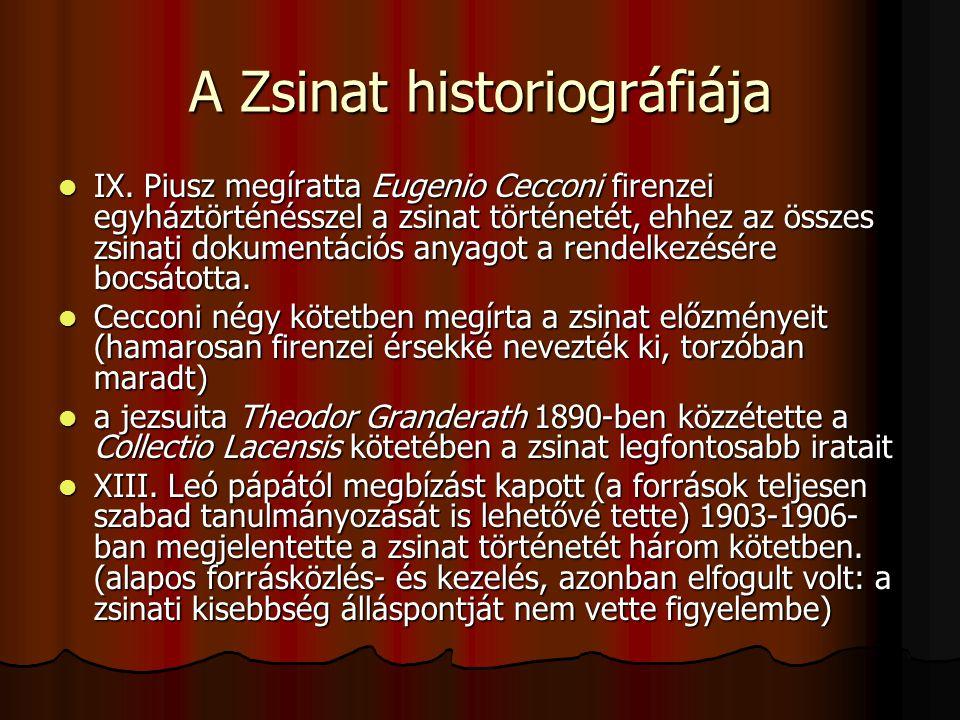A Zsinat historiográfiája IX.