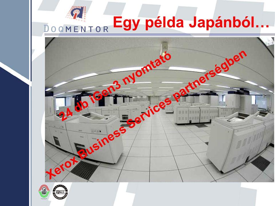 Egy példa Japánból… 24 db iGen3 nyomtató Xerox Business Services partnerségben