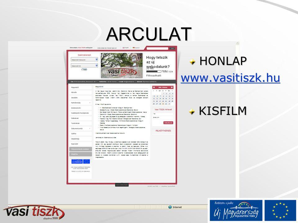 ARCULAT HONLAP www.vasitiszk.hu KISFILM