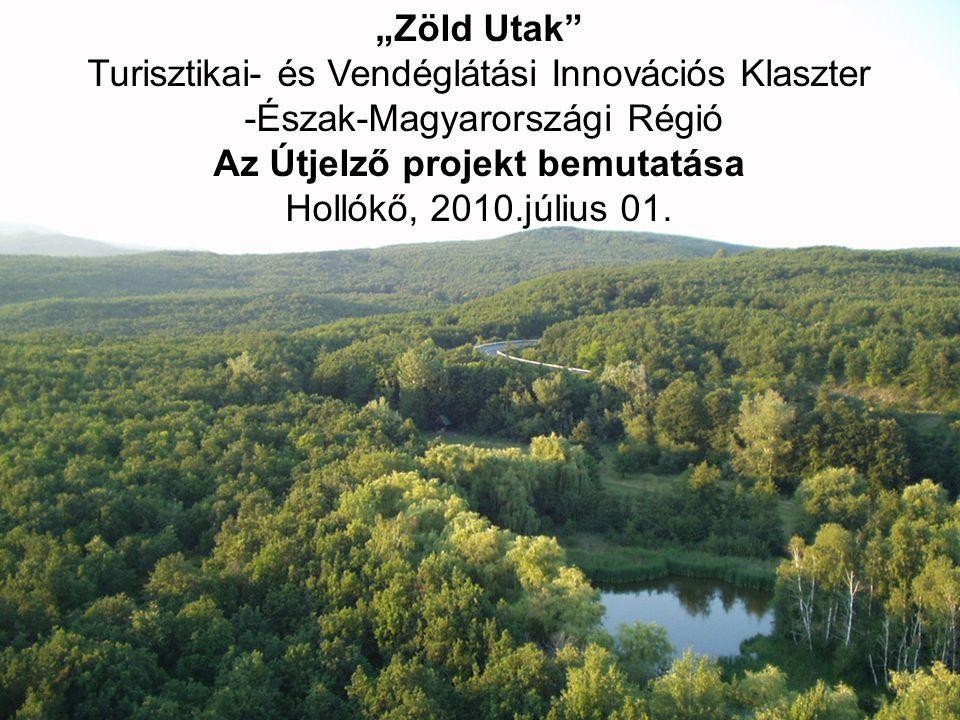 """1 """"Zöld Utak"""" Turisztikai- és Vendéglátási Innovációs Klaszter -Észak-Magyarországi Régió Az Útjelző projekt bemutatása Hollókő, 2010.július 01."""