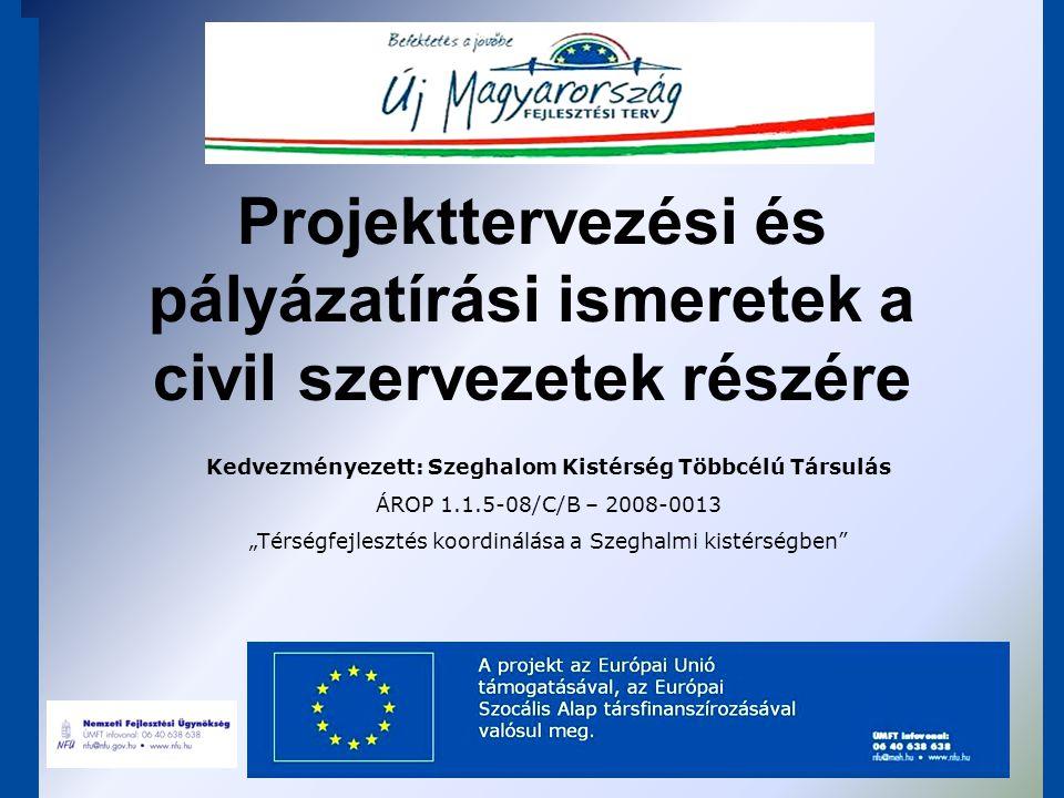 """Szeghalom Kistérség Többcélú Társulása ÁROP-1.1.5/C """"A leghátrányosabb helyzetű kistérségek fejlesztési és együttműködési kapacitásának megerősítése c."""