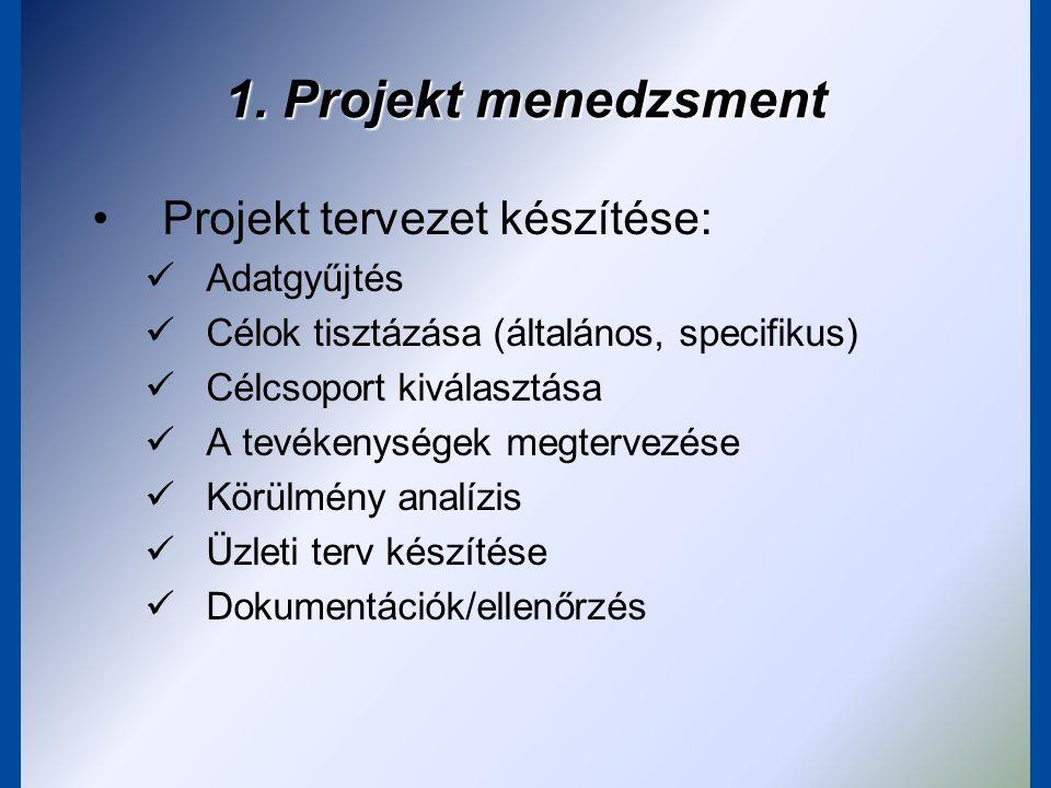 A konkrét projekttervezés kezdeti fázisának eszközei: a fastruktúrák Problémafa, célfa, tevékenységfa: összeállítás, logikai összefüggések
