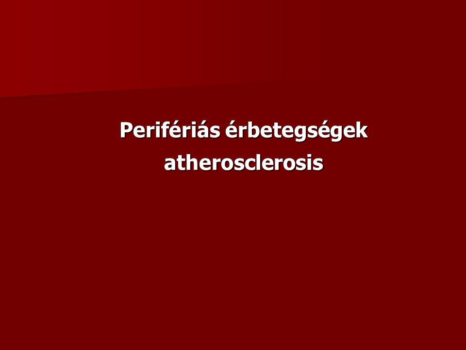 Perifériás érbetegségek atherosclerosis