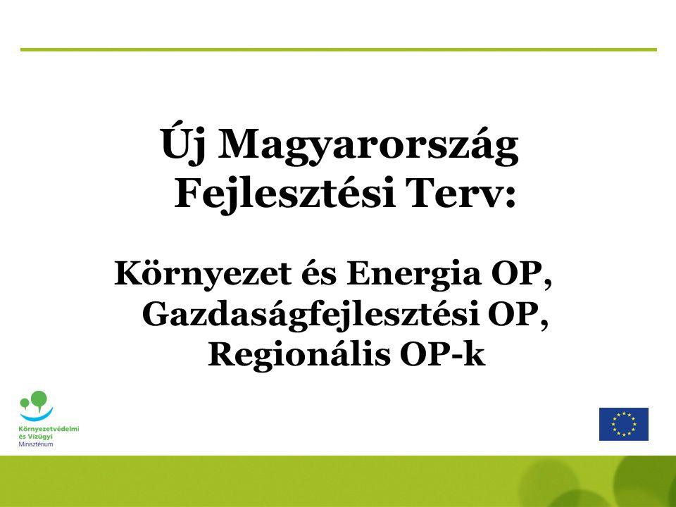 Új Magyarország Fejlesztési Terv: Környezet és Energia OP, Gazdaságfejlesztési OP, Regionális OP-k