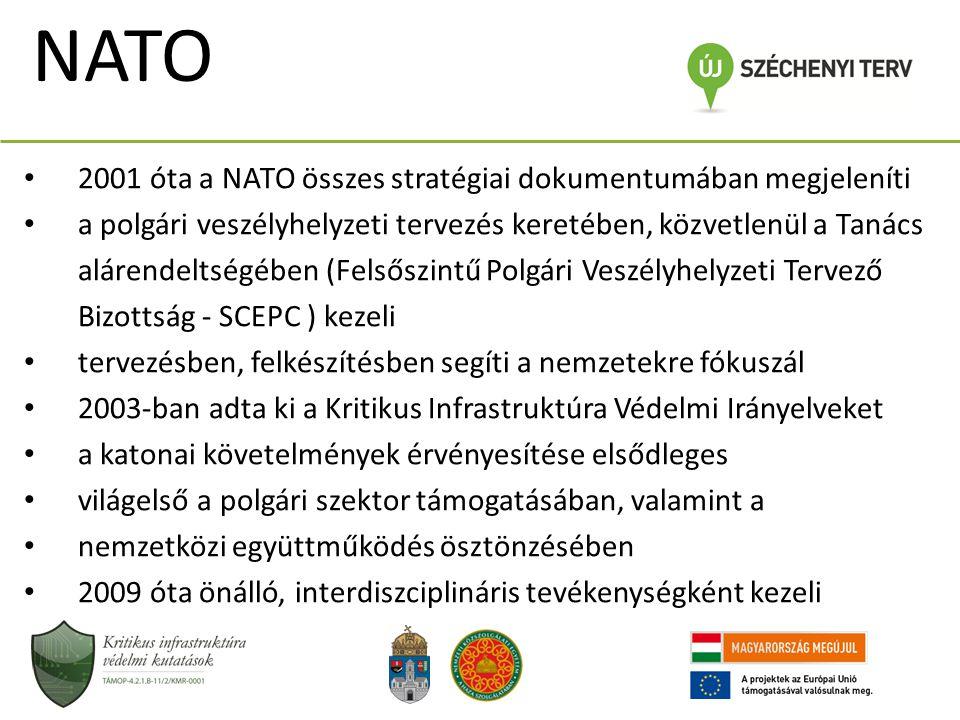 NATO 2001 óta a NATO összes stratégiai dokumentumában megjeleníti a polgári veszélyhelyzeti tervezés keretében, közvetlenül a Tanács alárendeltségében