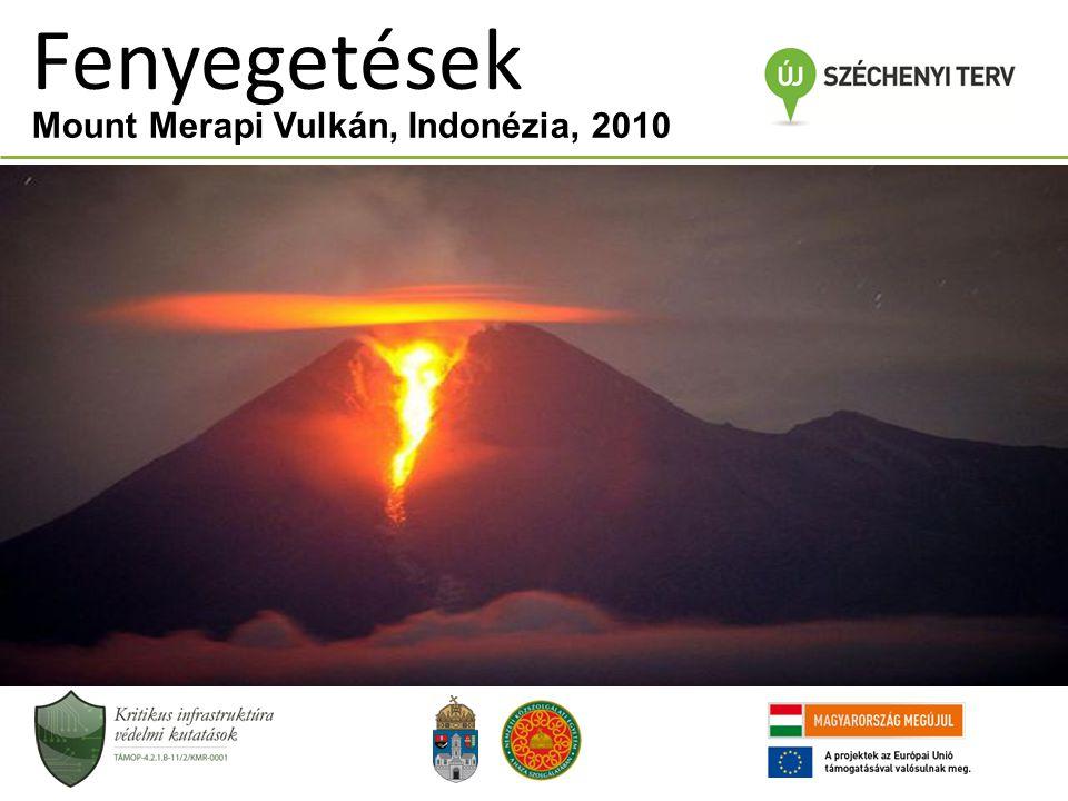 Mount Merapi Vulkán, Indonézia, 2010 Fenyegetések