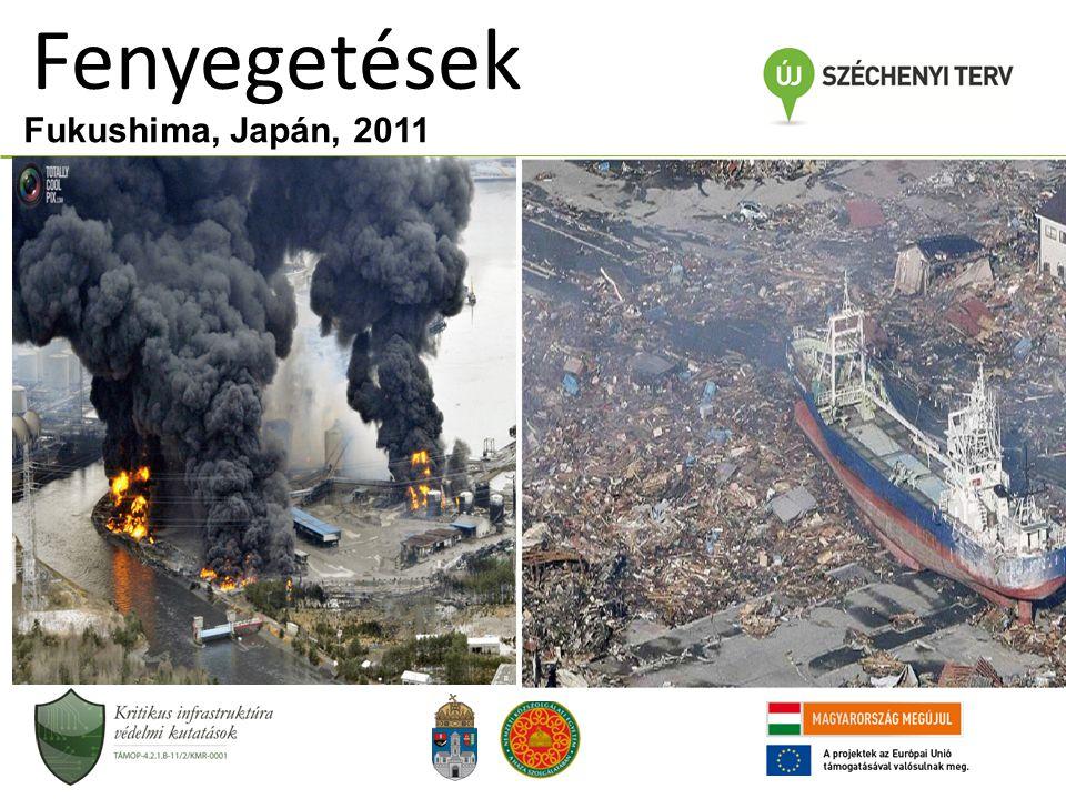 Fukushima, Japán, 2011 Fenyegetések