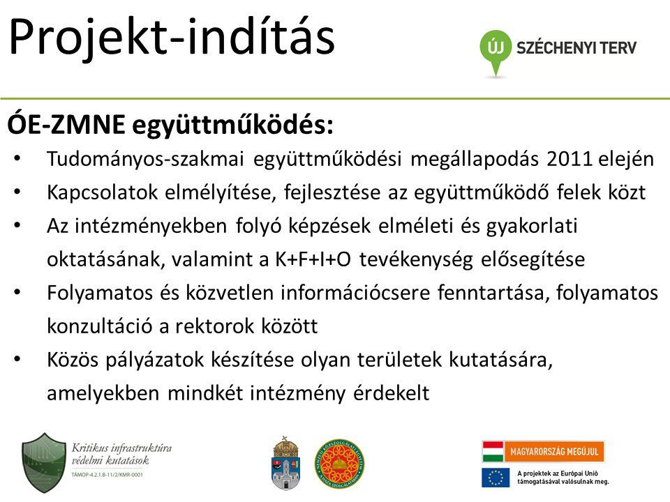 ÓE-ZMNE együttműködés: Tudományos-szakmai együttműködési megállapodás 2011 elején Kapcsolatok elmélyítése, fejlesztése az együttműködő felek közt Az i