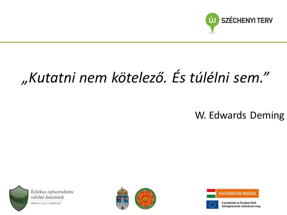 """""""Kutatni nem kötelező. És túlélni sem."""" W. Edwards Deming"""